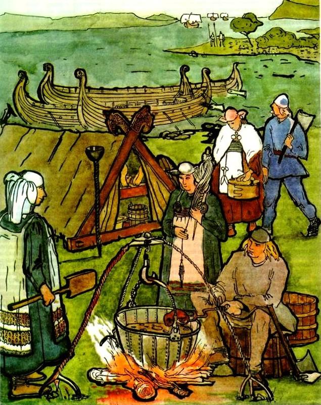 Жизнь викингов в картинках подавления гауссова