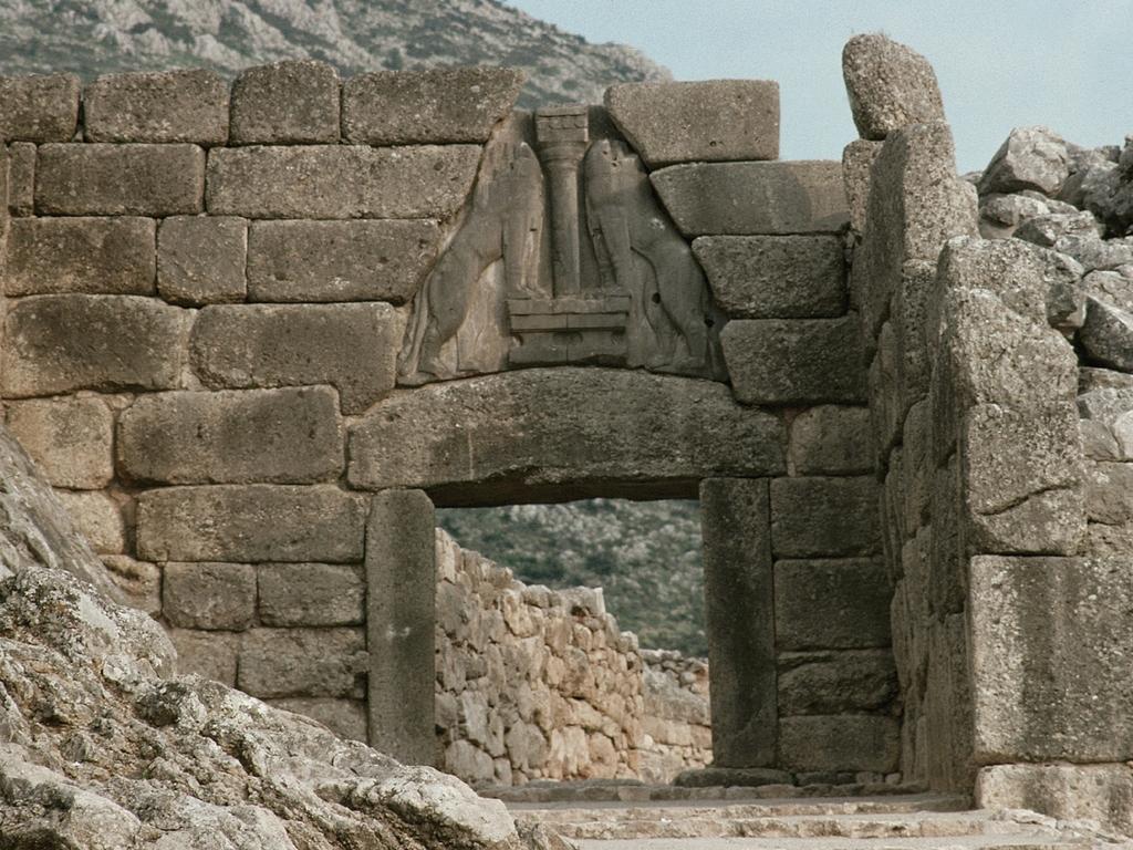 Микенская культура. Микенский дворец. Львиные ворота.: likbez_a_m — LiveJournal