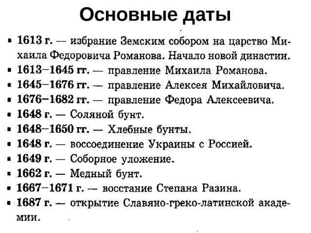 Начало истории россии основные даты и события